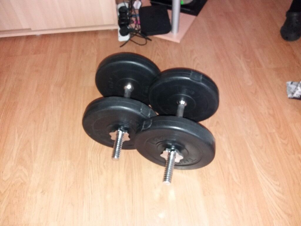 FOR SALE WEIGHT BENCH AND WEIGHTS HARDLY USED RRP COST £150