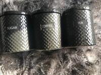 Tea coffee sugar pots
