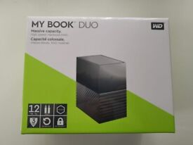 Western Digital My Book Duo 12TB Desktop Hard Drive WD Red USB Type-C SEALED