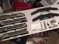 Hornby oo gauge Eurostar model train set