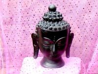 Buddha Head Ornament in Black Terracota