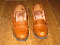 OFFICE branded loafers leather shoes brown size 39 6uk flats