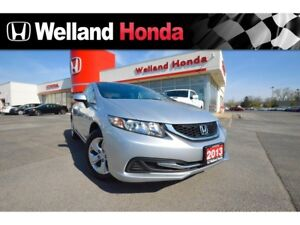 2013 Honda Civic LX| HEATED SEATS| BILINGUAL BLUETOOTH|