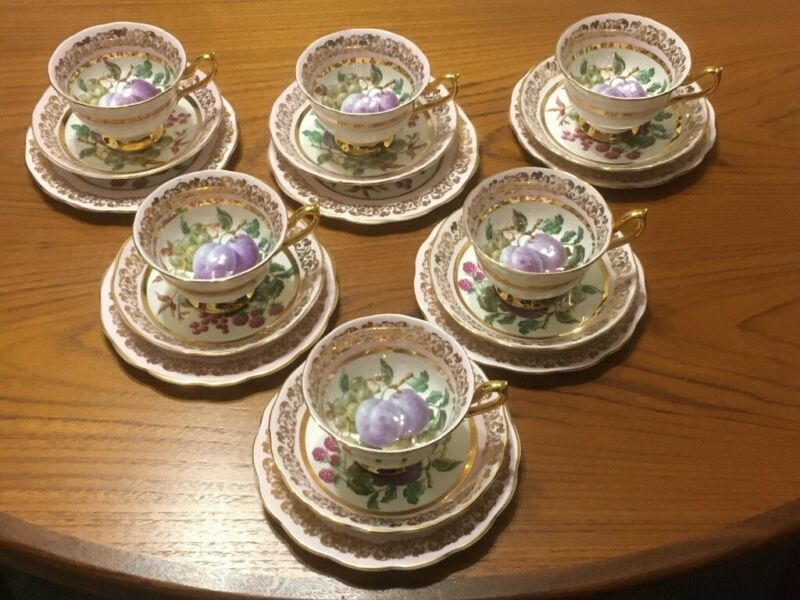 Ashley fine bone China teaset. 22Ct gold trim. 18 pieces for sale  Sheffield, South Yorkshire