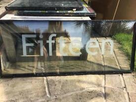 """Number """"Fifteen"""" window panel"""