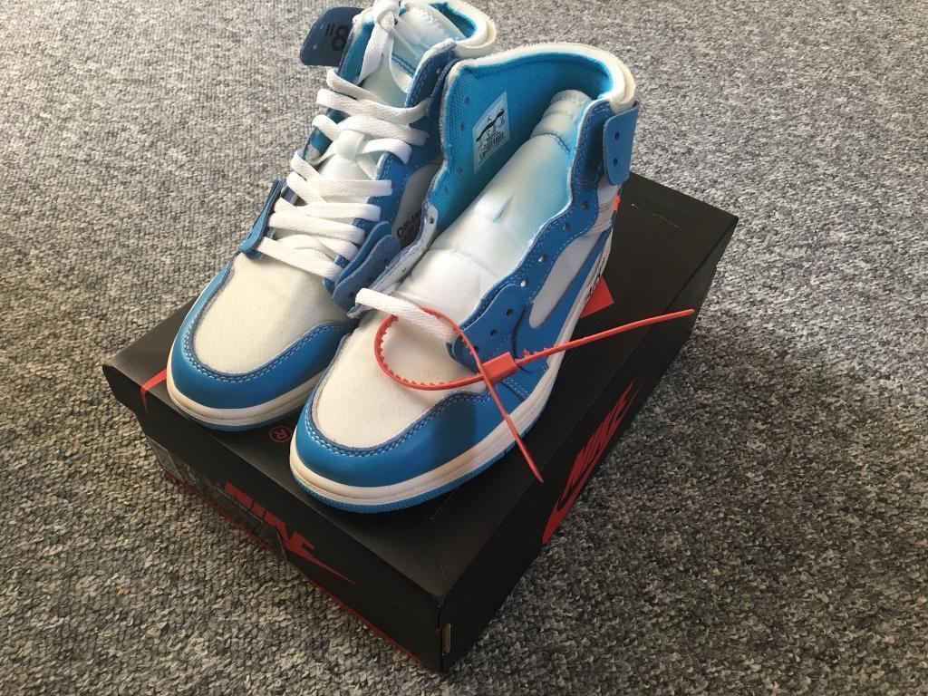 3c33a623b1f4 Nike Air Jordan 1 x Off White UNC Size UK 6