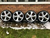 "Vauxhalls, Volkswagen, Toyota, Renault 18"" Alloy Wheels, Chrome Alloys"