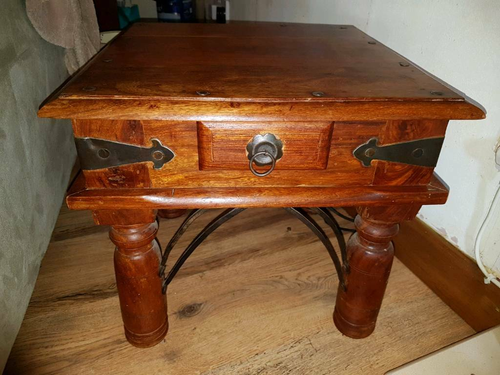 Indian Rosewood Furniture Dvd Holder Large Coffee Table Storage Trunk
