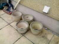 Garden Stone Pots