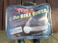 Motorcycle weatherproof cover in bag. New and unused. Large