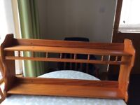 Pine shelving unit ideal for a kitchen