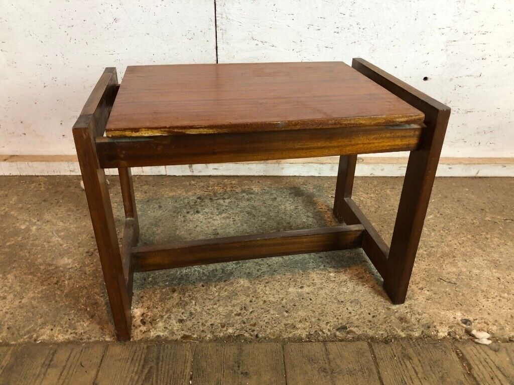 Vintage Mid Century Teak Wooden Square Coffee Table | in ...