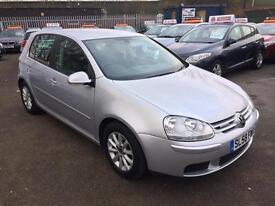 VW golf 1.9 TDI bluemotion match 5 door 2009, 1 owner, £30 road tax, full dealer history, Hpi clear