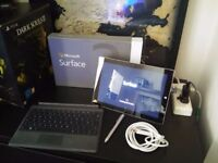 Microsoft Surface Tab 3 (boxed) w/ Keyboard w/ Stylus w/ mini-HDMI (for Tv or monitor), used for sale  West Yorkshire