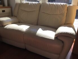 Automatic recliner sofa (cream)