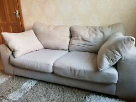 2 Seater Beige / Light Brown Sofa