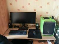 "Complete Gaming PC - i5-4670K, 8GB RAM, MSI 7950 3GB Gfx, 250GB SSD + 512GB SSD, 29"" Monitor"