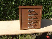 Small 5 Drawer Desktop Filing Cabinet