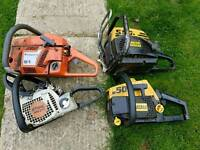 4 chainsaws for sale spares or repair