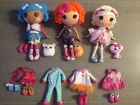 Large LaLaLoopsy Bundle | Fluff N Stuff, Sunny Side Up, Suzette La Sweet