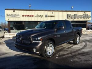 2017 Ram 1500 Sport-Rambox-Remote Start-Sport Performance Hood