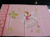 Pink fairy cotbed duvet set inc pillowcase- very good condition