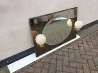Art Deco mirror with two lights
