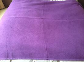 John Lewis Purple Fleece-Style Throw/Blanket