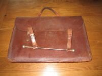ANTIQUE VINTAGE MUSIC SHEET BAG SATCHEL LEATHER VGC ORIGINAL