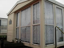 6 Berth Static Caravan Crimdon Dean for Hire
