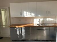 Complete Kitchen Stainless steel and white