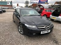 07 HONDA ACCORD SPORT 2.2 DIESEL CTDI IN BLACK *PX WELCOME* 12 MONTHS MOT £1995