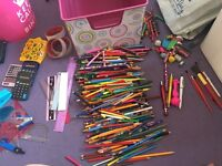Big bundles of pens ,pencils , crayons , rulers , rubbers and lots more