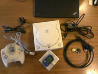 Sega Dreamcast in very good condition with Controller, memory card and VGA cable