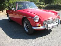 MGB GT 1972 with overdrive chrome bumpers rostyle wheels mot'd tax exempt