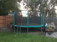 14ft Trampoline with ladder and net