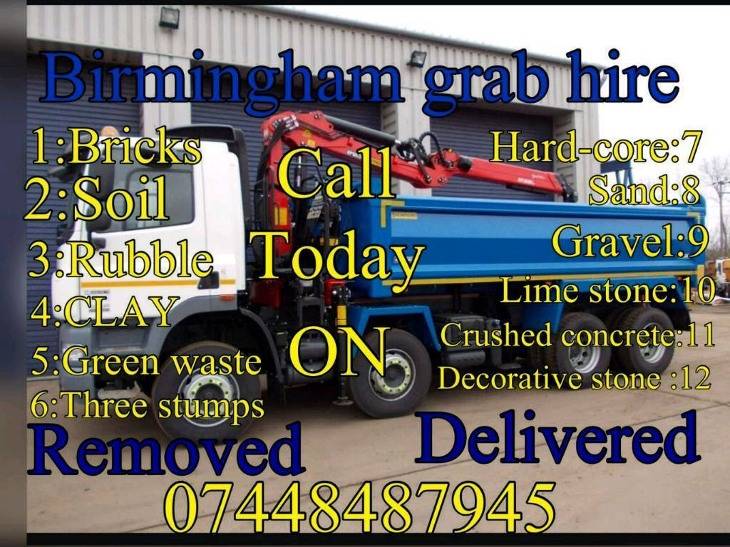 Birmingham grab hire & haulage ltd muck away dudley walsall all over west midlands