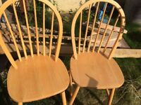 2 Beach Colour Bentwood kitchen or dining chairs