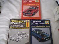 OLD CAR WORKSHOP MANUALS, HAYNES X 3 VAUXHALL. 1984 - 1999