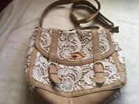 New look ladies shoulder bag brown beige used few times £5