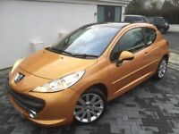 PEUGEOT 207 1.6 HDI GT 110 ** MOT 29/9/17** SERVICE HISTORY TO 60K, PANROOF,ALLOYS,LEATHER £1890