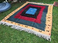 Beautiful Large P.e.r.s.i.a.n Handmade Wool Tribal Gabeh Pattern Rug Kleim soumak-kilim kerman