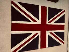 Union Jack Rug 100% Acrylic