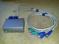 IC-12 2 Port PS2 KVM Switch.