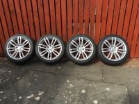 """18"""" 5x108 alloys with tyres"""