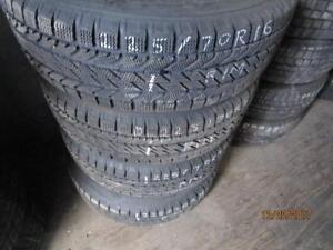 225/70R16 SET OF 4 USED BF GOODRICH WINTER TIRES ON STEEL RIMS TO FIT JOURNEY OR CARAVAN