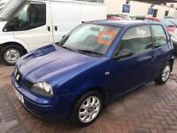 2002 SEAT AROSA IN LOVELY BLUE 1.0 CHEAP CAR TO RUN INSURE SUPER DRIVE READY TO GO