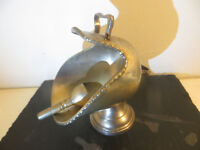 Vintage Silver Plate Coal Scuttle / Sugar Scoop EPNS Sweet Dish