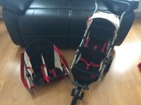 Dolls Mamas and Papas double buggy and bouncer