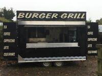 Catering trailer burger van